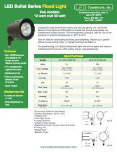 LED Bullet Series Flood Light