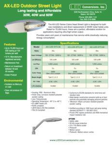 AX-LED Outdoor Street Light